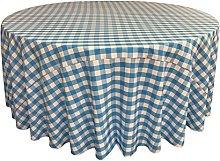 LA Linen Poly Checkered Round Tablecloth,