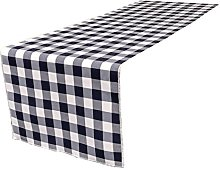 LA Linen Poly Checkered Table Runner, 14 by