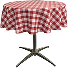 LA Linen Polyester Gingham Checkered 51-Inch Round