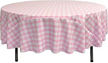 LA Linen Polyester Gingham Checkered 90-Inch Round