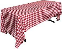 LA Linen Polyester GINGHAM Checkered Rectangular