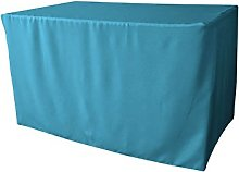 LA Linen Polyester Poplin Fitted tablecloth 48