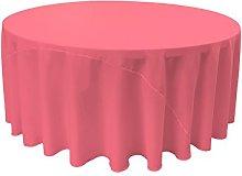 LA Linen Polyester Poplin Round Tablecloth,