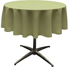 LA Linen Polyester Poplin Round Tablecloth,