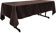LA Linen Poplin Rectangular Tablecloth, Polyester,