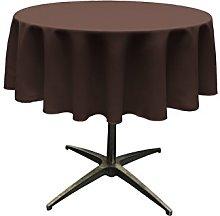 LA Linen Poplin Round Tablecloth, Polyester,