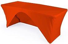 LA Linen Rectangular Open Back Tablecloth,