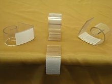LA Linen Table Skirt Clip with Velcro, Fits Up to