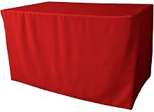 LA Linen TCpop 48x30x30_RedP98 Polyester Poplin