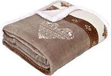 LA MAISON DE LILO - Fleece-Lined Brown and White