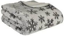 LA MAISON DE LILO - Fleece-Lined Gray Throw with