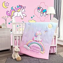 La Premura Unicorn Baby Nursery Crib Bedding Set