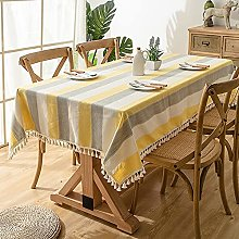 laamei Stain-resistant Tablecloth Kitchen Table