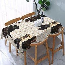 Labrador Retriever Mural Tablecloth,Rectangular
