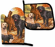 Labradors Oven Mitts and Potholders,2PCS Heat