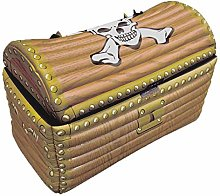labreeze Inflatable Treasure Chest Gold Blow Up