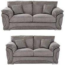 Labrinth Fabric 3 Seater + 2 Seater Sofa Set