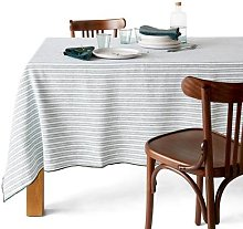 Lacanau Mixed Linen / Washed Cotton Tablecloth by