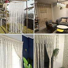 Lace curtain, woven curtain door curtain-beige-90