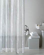 Lace Shower Curtain, White