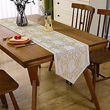 Lace Table Runner Short Beige Classic Table