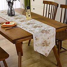 Lace Table Runner Short Coffee Classic Table