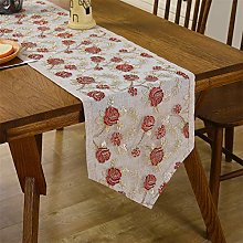 Lace Table Runner Short Red Classic Table