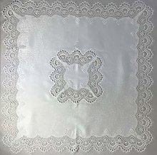 Lace Tablecloth 35 inch (85 x 85 cm) in an Ivory