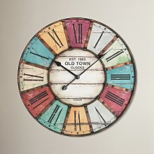 Lacon Oversized 60cm Vintage Wall Clock Wrought