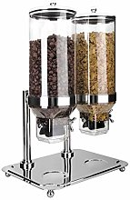 Lacor-69023-DOUBLE CEREAL DISPENSER WITH STAND