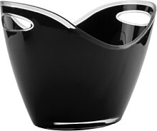 LACOR Acrylic Two Hands Wine Cooler, Black, One