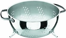 Lacor Basic Colander with Stand, Silver, 24 cm