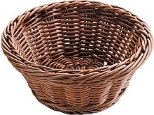 LACOR Round Bread Basket, Polypropylene, Brown, 23