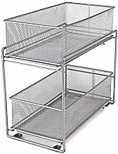 LaCyan Mesh Sliding Baskets Stackable Cabinet