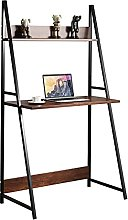 Ladder Desk, Computer Study Desk with Shelves, PC