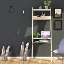 Ladder Desk in White & Oak - Oslo