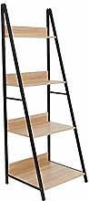 Ladder Shelf Bookcase - Bookshelf - 4 Tier Plant
