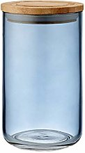 Ladelle - Glass Stak Canister - Dusky Blue - 17cm