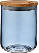 Ladelle - Stak Glass Canister - Dusky Blue - 13cm