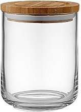 Ladelle Stak Glass Clear Canister, 13cm