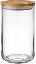 Ladelle Stak Glass Clear Canister, 17cm