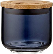 Ladelle Stak Glass Midnight Canister, 9cm