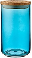 Ladelle Stak Glass Ocean Teal Canister, 17cm