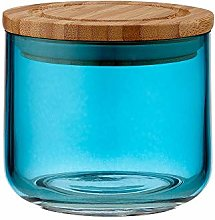 Ladelle Stak Glass Ocean Teal Canister, 9cm