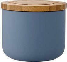 Ladelle Stak Soft Matt Dusky Blue Canister, 9cm