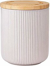 Ladelle Stak Textured Grey Canister, 13cm