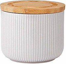 Ladelle Stak Textured Grey Canister, 9cm
