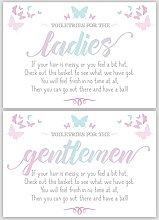 Ladies & Gents Butterfly Signs For Wedding