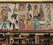 Ladies Mural Wallpaper for Japanese Cuisine Store