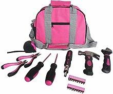 Ladies Pink Tool Kit Tool Bag DIY Set Includes